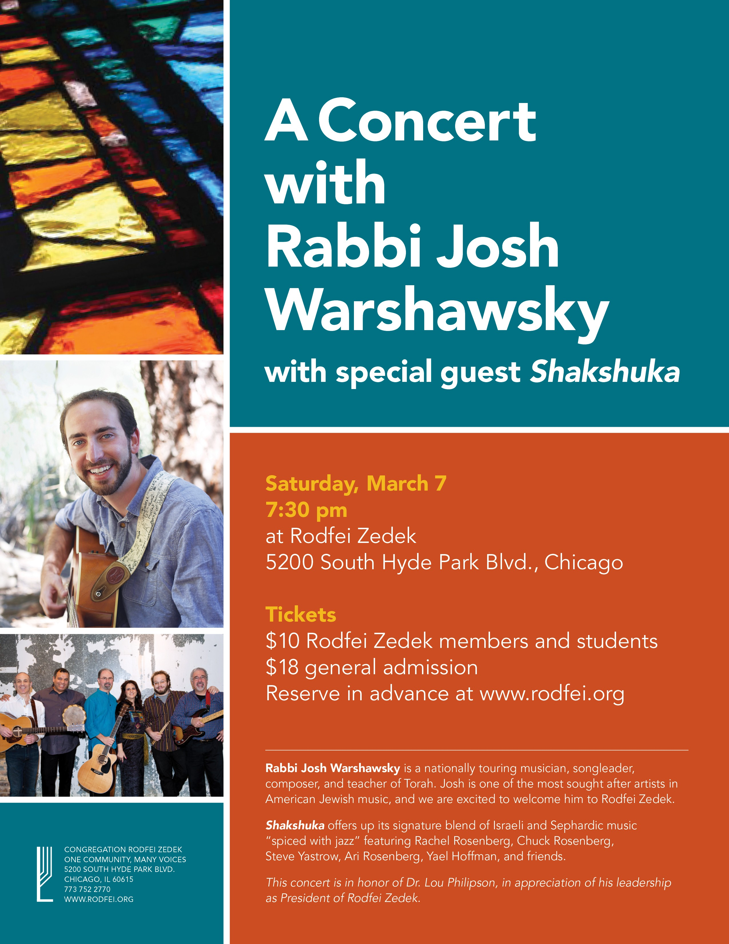 Concert flyer and ticket purchase link