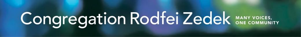 Logo for Congregation Rodfei Zedek