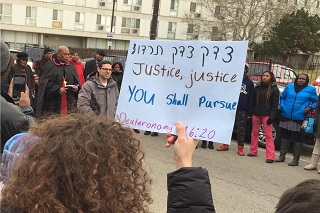 Marching for Justice at Black Lives Matter protest 7 Dec 2014