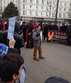 at the Black Lives Matter protest 7 Dec 2014