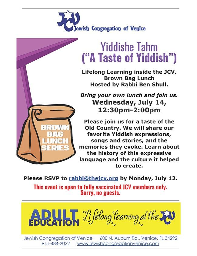 JCV Taste of Yiddish