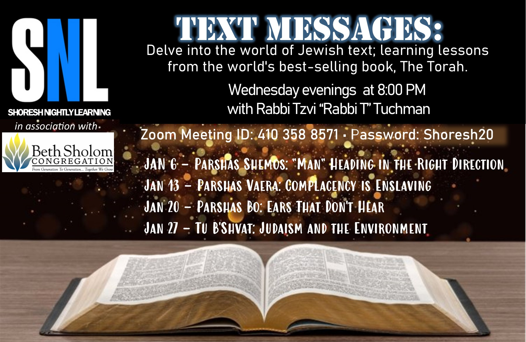 Banner Image for Rabbi T's: Text Messages Class