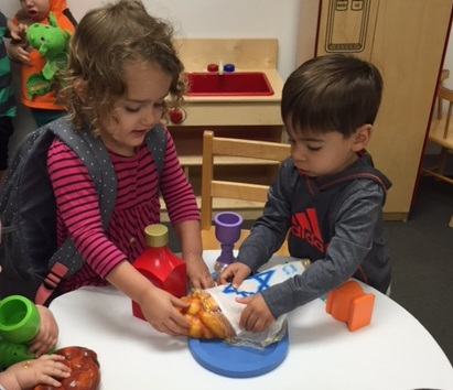 Preschoolers at B'nai Tzedek Synagogue in Potomac Maryland