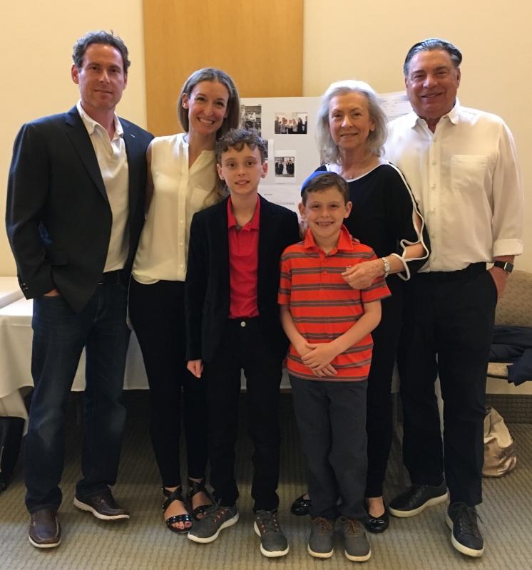Family at B'nai Tzedek Synagogue in Potomac Maryland