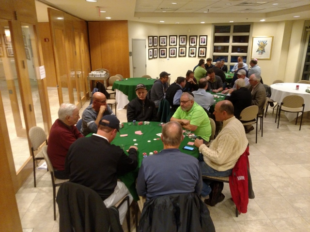 Poker at B'nai Tzedek Synagogue in Potomac Maryland