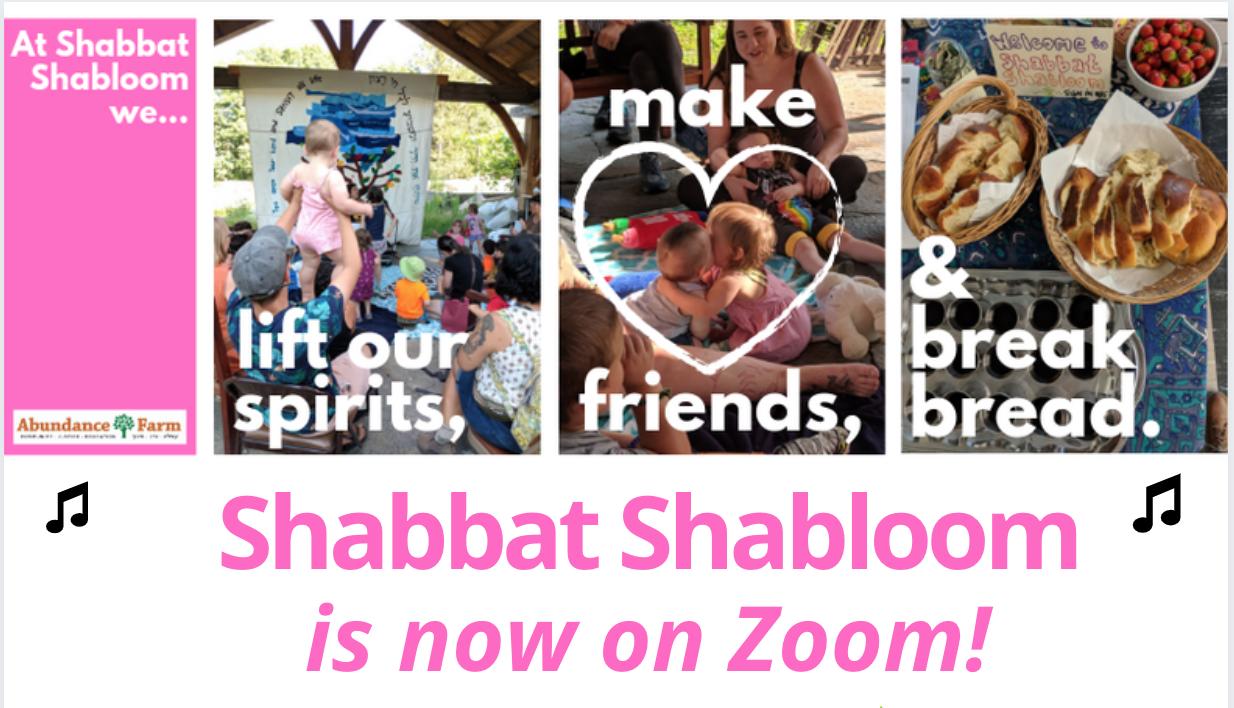 Banner Image for Shabbat Shabloom  https://us02web.zoom.us/j/86826040167