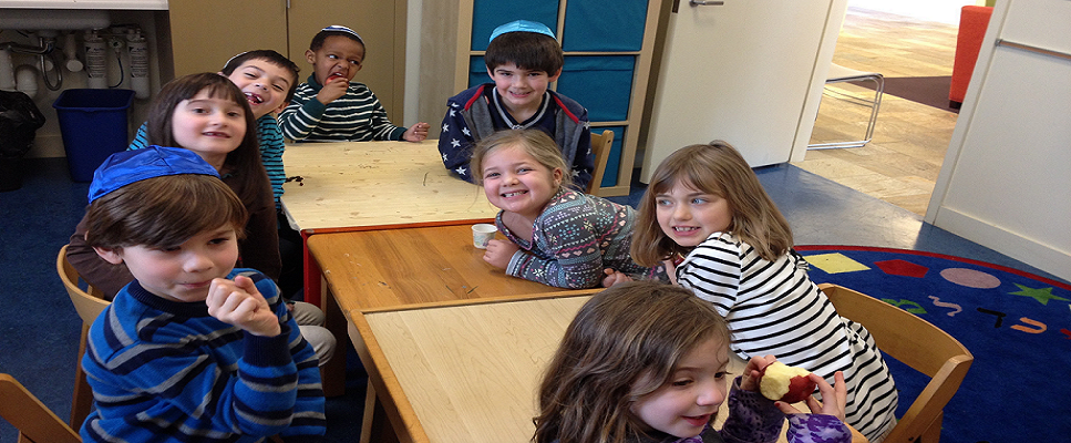 "<span class=""slider_description"">Our lively, creative synagogue school is for students K-8th grade, and we have Shabbat and Sunday morning programs for 0-preschool ages, too!</span>"