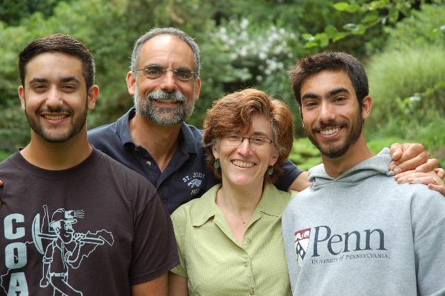 Faith and Alfred Rossi with their 2 sons