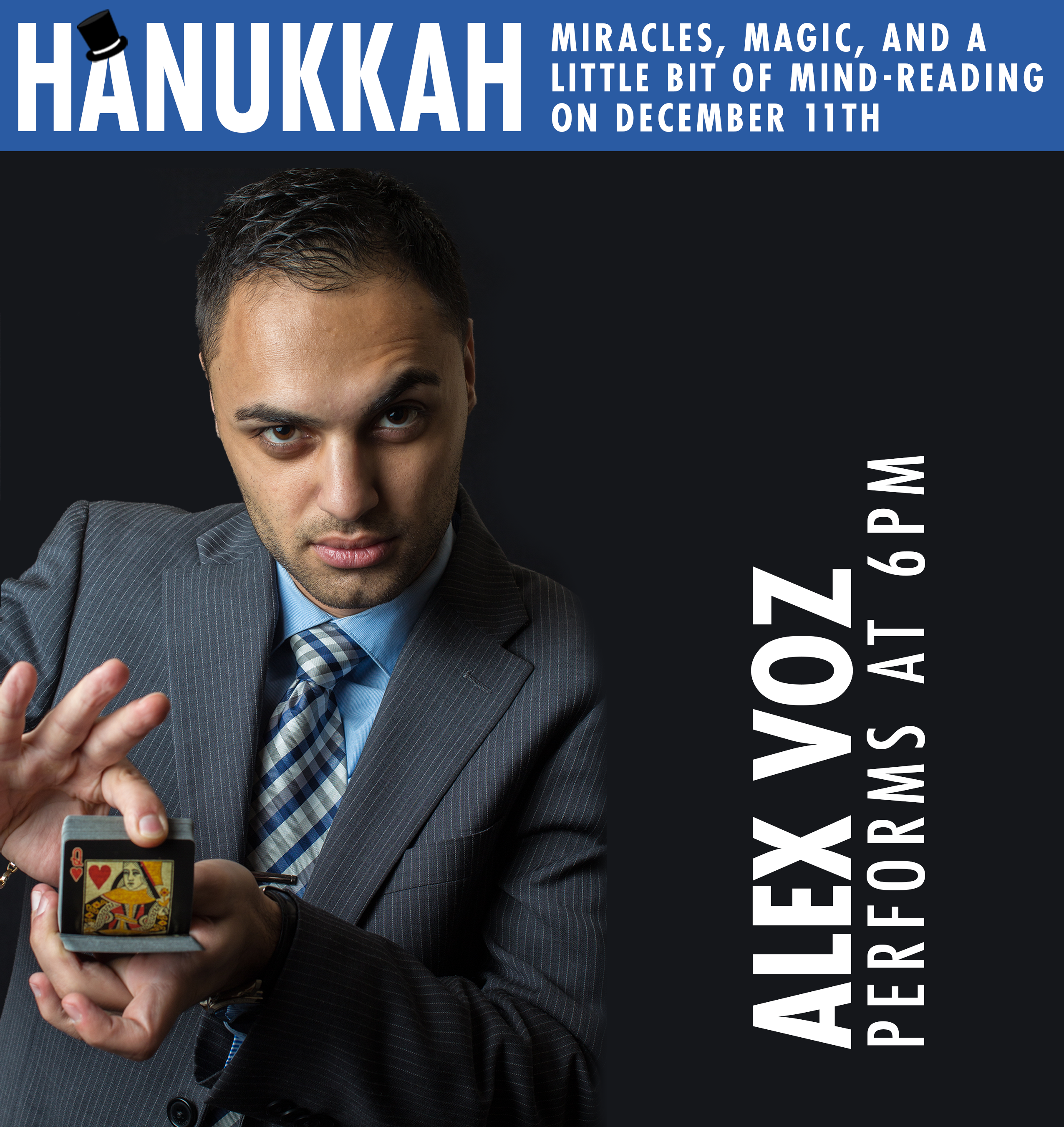 Banner Image for Hanukkah Miracles, Magic, And A Little Bit Of Mind-Reading With Alex Voz