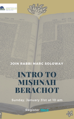 Banner Image for Introduction to Mishna Berachot with Rabbi Marc