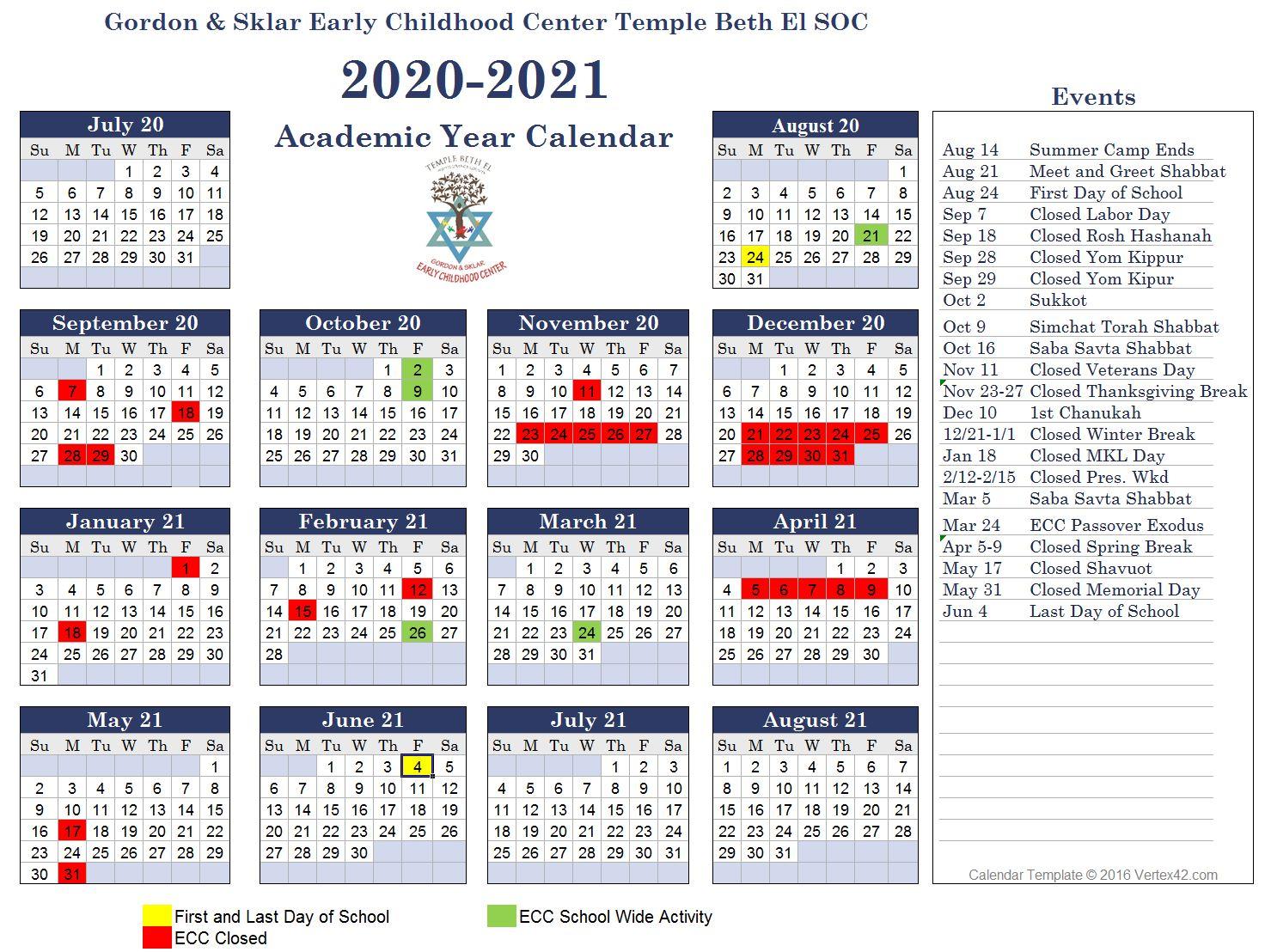 ECC 2020-2021 Calendar