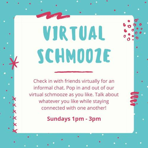 Banner Image for Virtual Schmooze will not held due to High Holidays