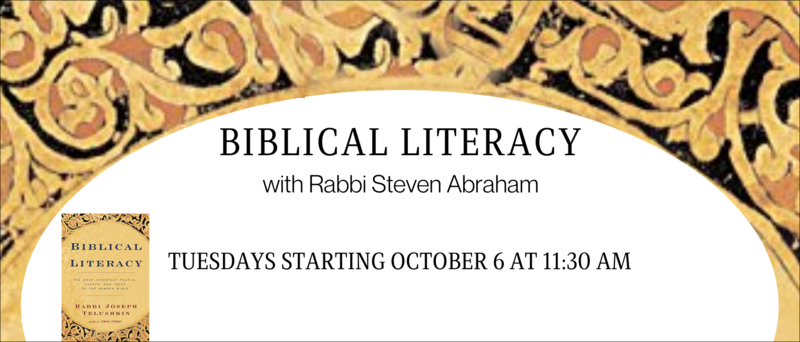 Banner Image for Biblical Literacy with Rabbi