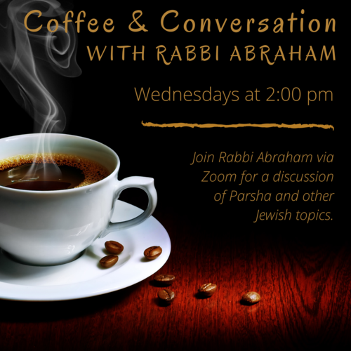 Banner Image for Coffee & Conversation with Rabbi