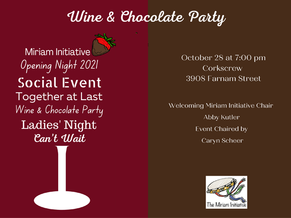 Banner Image for Miriam's Wine & Chocolate Party