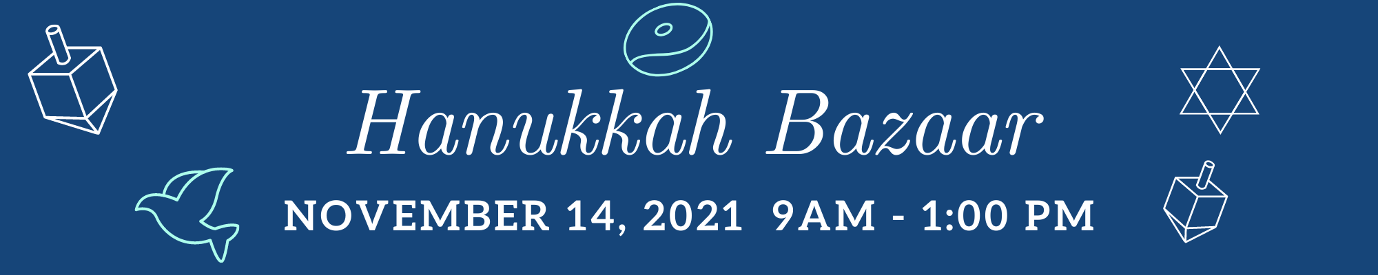 """<span class=""""slider_title"""">                                     Judaica Shop hosts a Chanukah Bazaar                                </span>                                                                                                                                                                                       <span class=""""slider_description"""">November 14 from 9 AM - 1 PM. At the Bazaar the Judaica Shop will be selling many different types of Chanukah products and gift items, along with other vendors. Coffee and muffins will be set up outside under the portico.</span>"""