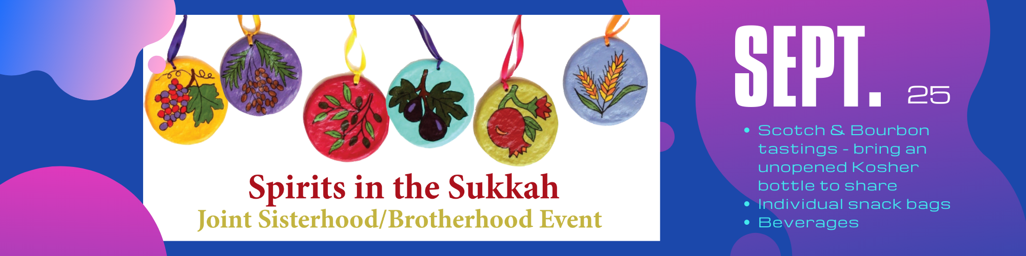 "<a href=""http://kellywalsh.space/sisterhood/event/sisterhood-brotherhood-sukkah-hop-2-2-3-2-copy/""                                     target="""">                                                                 <span class=""slider_title"">                                     Spirits in the Sukkah                                </span>                                                                 </a>                                                                                                                                                                                       <span class=""slider_description"">Saturday, September 25, 2021, at 8:00 p.m. Adath Israel Sukkah Plaza</span>                                                                                     <a href=""http://kellywalsh.space/sisterhood/event/sisterhood-brotherhood-sukkah-hop-2-2-3-2-copy/"" class=""slider_link""                             target="""">                             More information and to register!                            </a>"