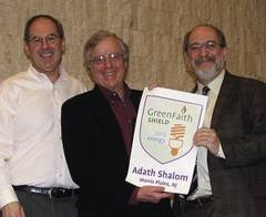 Green Team receiving GreenFaith Shield