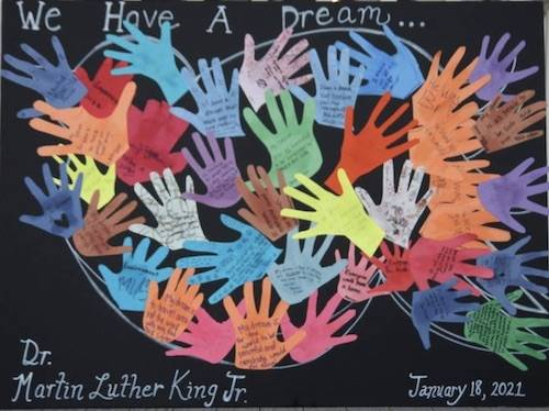 We Have A Dream sign for MLK day