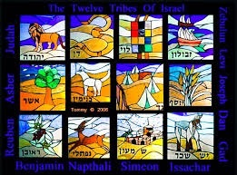 12 tribes of Israel in stained glass