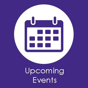 "A digital graphic image of a calendar that says ""Upcoming Events."" This image can be clicked to be taken to B'nai Amoona's events page."