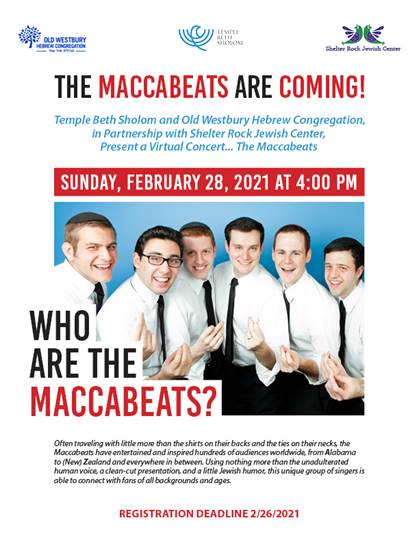 Banner Image for The Maccabeats Are Coming!