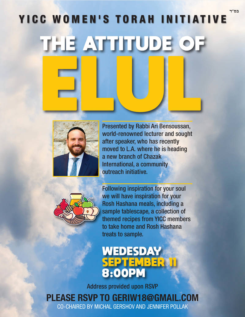 Banner Image for Women's Torah Initiative - The Attitude of Elul