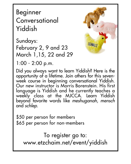 Banner Image for Lilmode: Beginner Conversational Yiddish