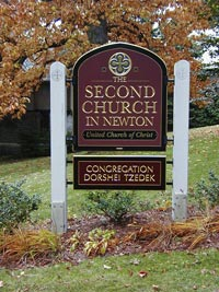 Second Church sign