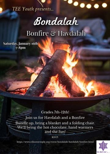 Banner Image for TEE YOUTH Bondalah- Bonfire & Havdalah