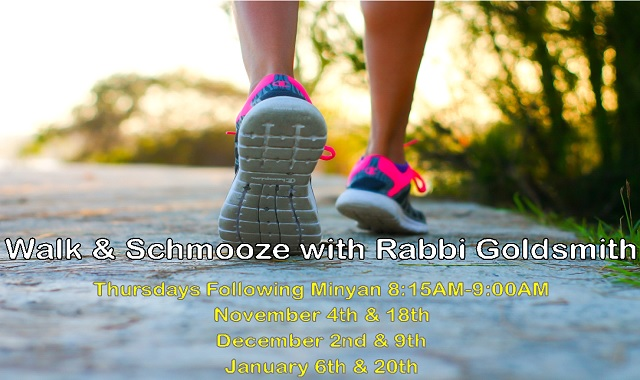 "<span class=""slider_title"">                                     Walk & Schmooze with Rabbi Goldsmith                                </span>"
