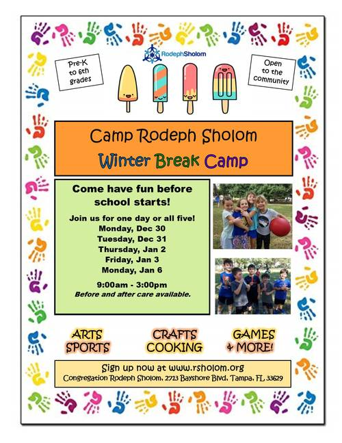 Banner Image for Winter Break Camp Rodeph Sholom