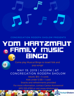 Banner Image for Yom Haatzmaut family music Bingo