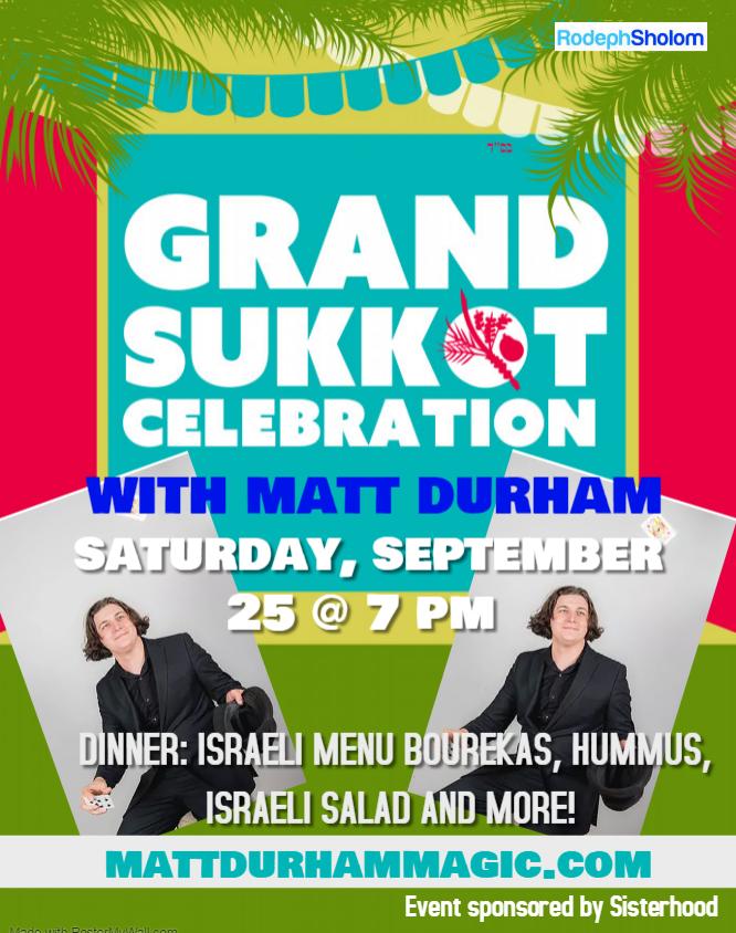 Banner Image for Grand Sukkot Celebration with Matt Durham