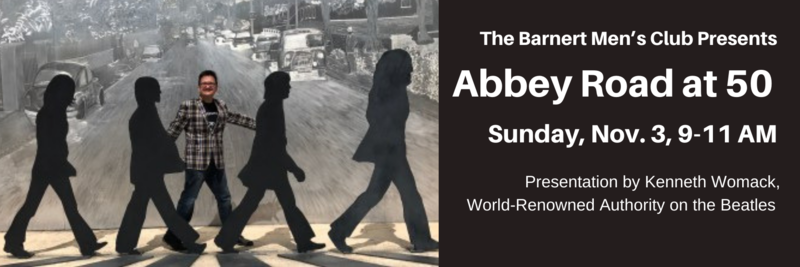 Barnert Temple Men's Club Sunday Meeting Beatles Abbey Road at 50 Presentation by Kenneth Womack