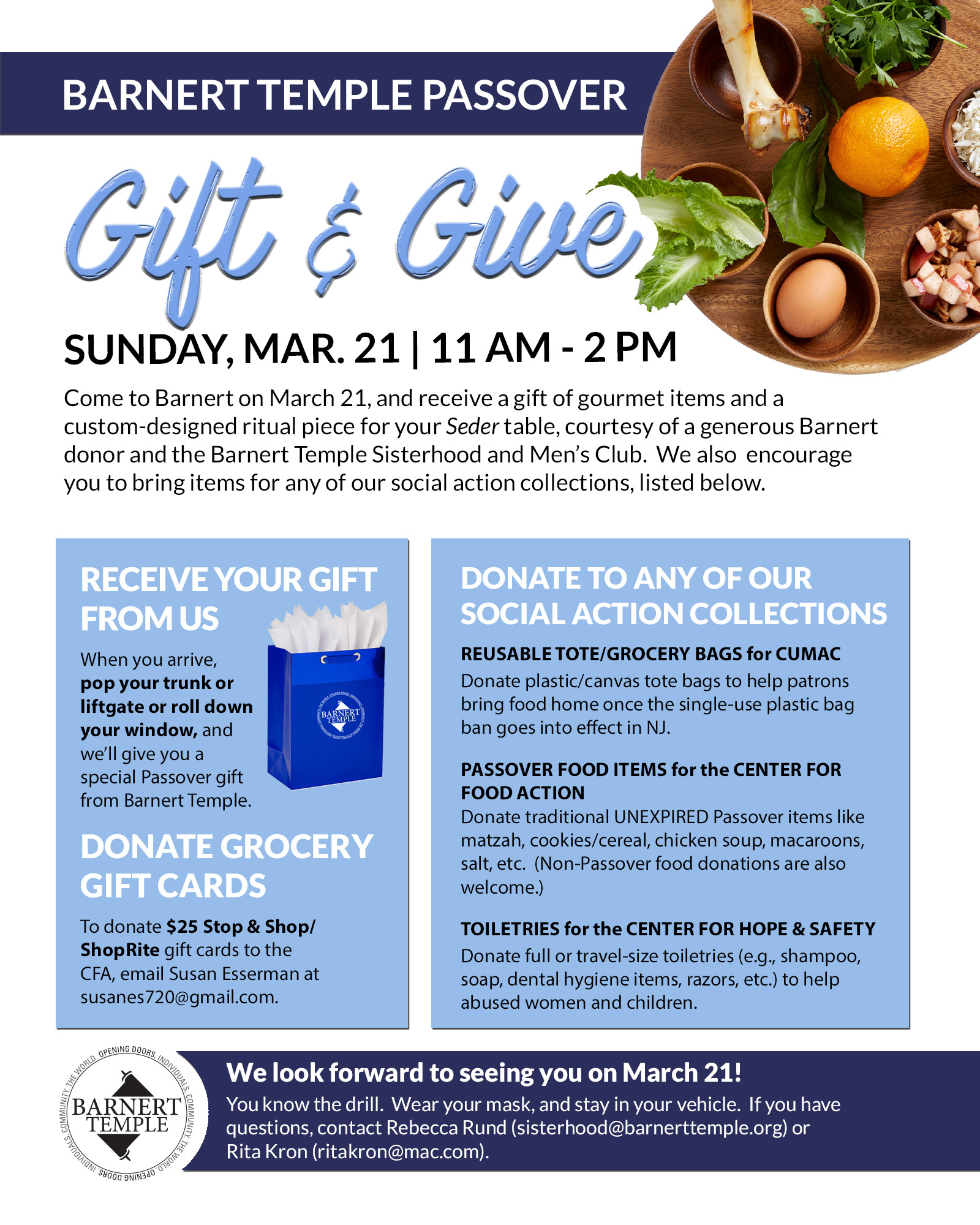 Passover Gift & Give Flyer
