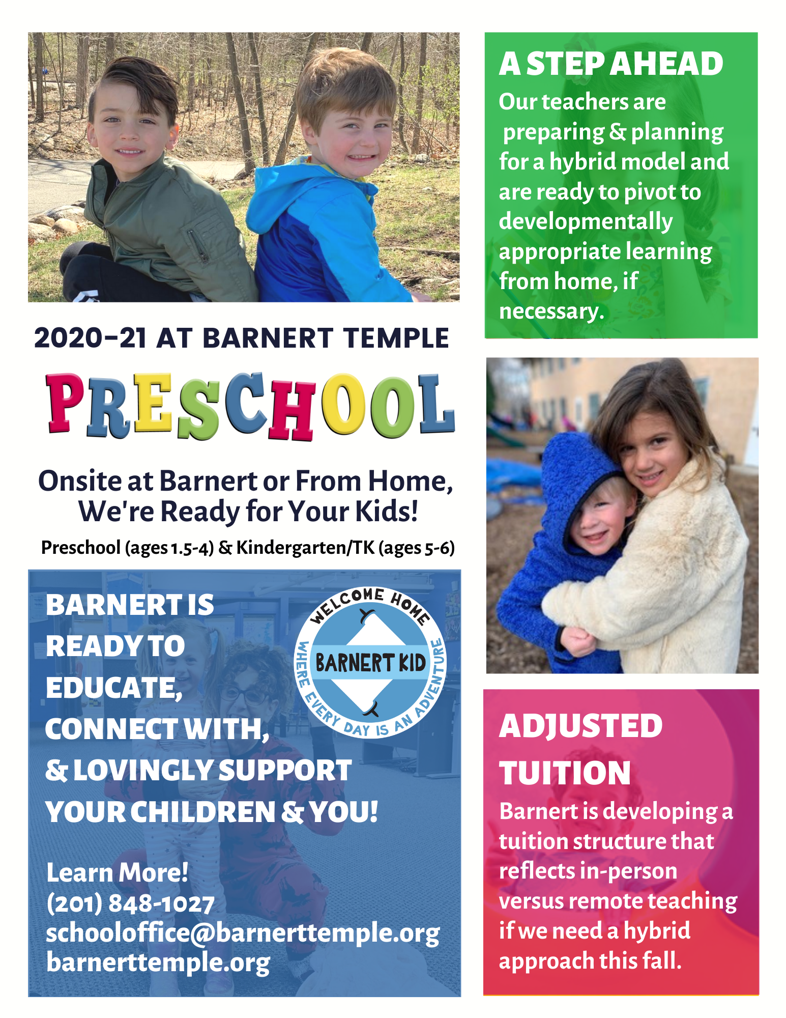 Barnert Preschool General Interest Flyer Spring 2020