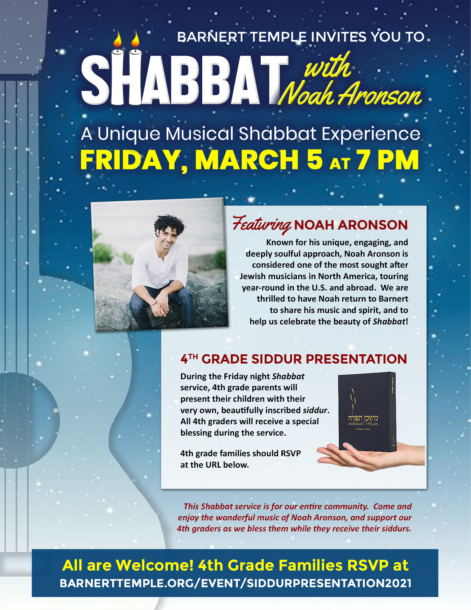 Noah Aronson Shabbat March 2021