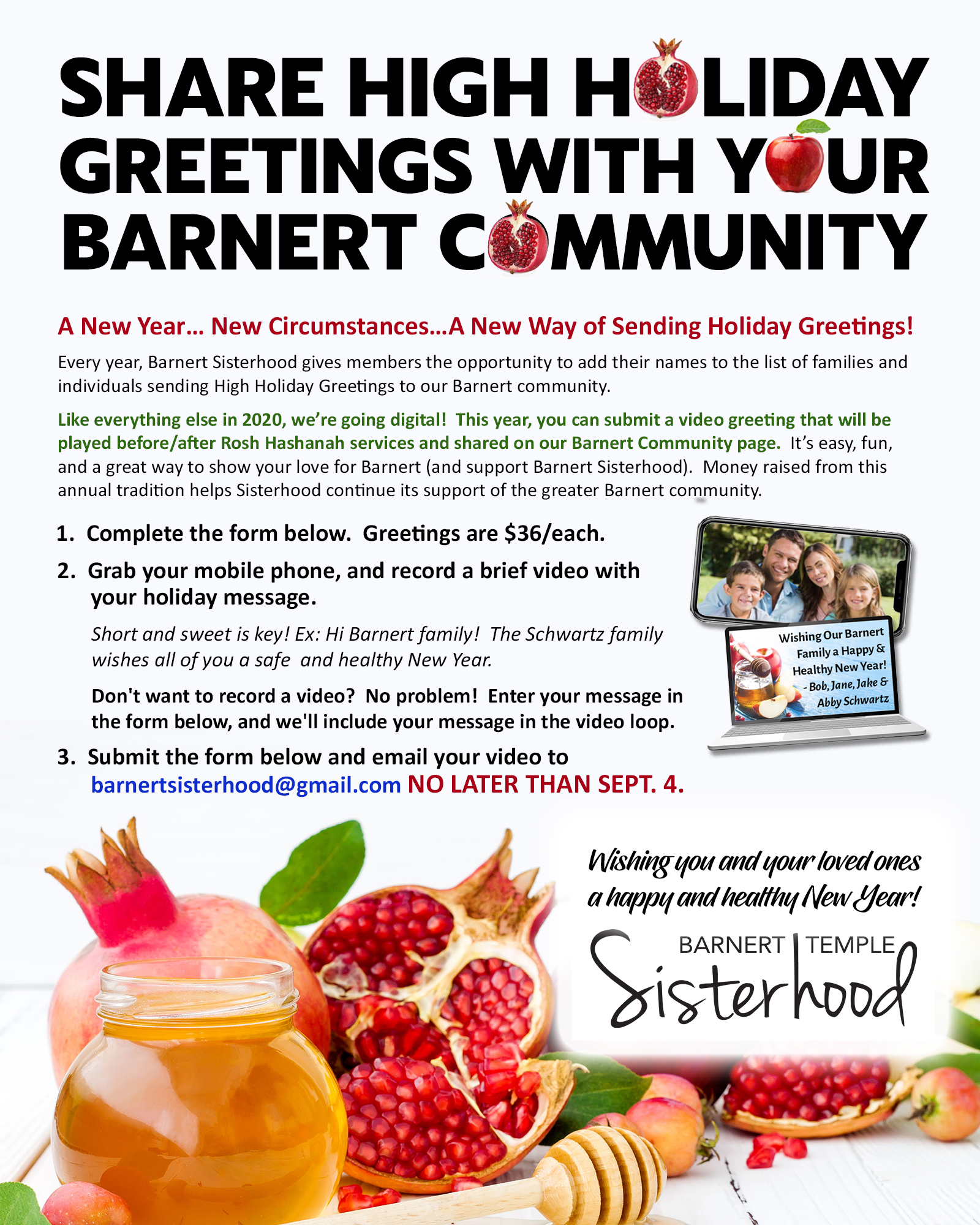 Barnert Sisterhood High Holiday Greetings Ad