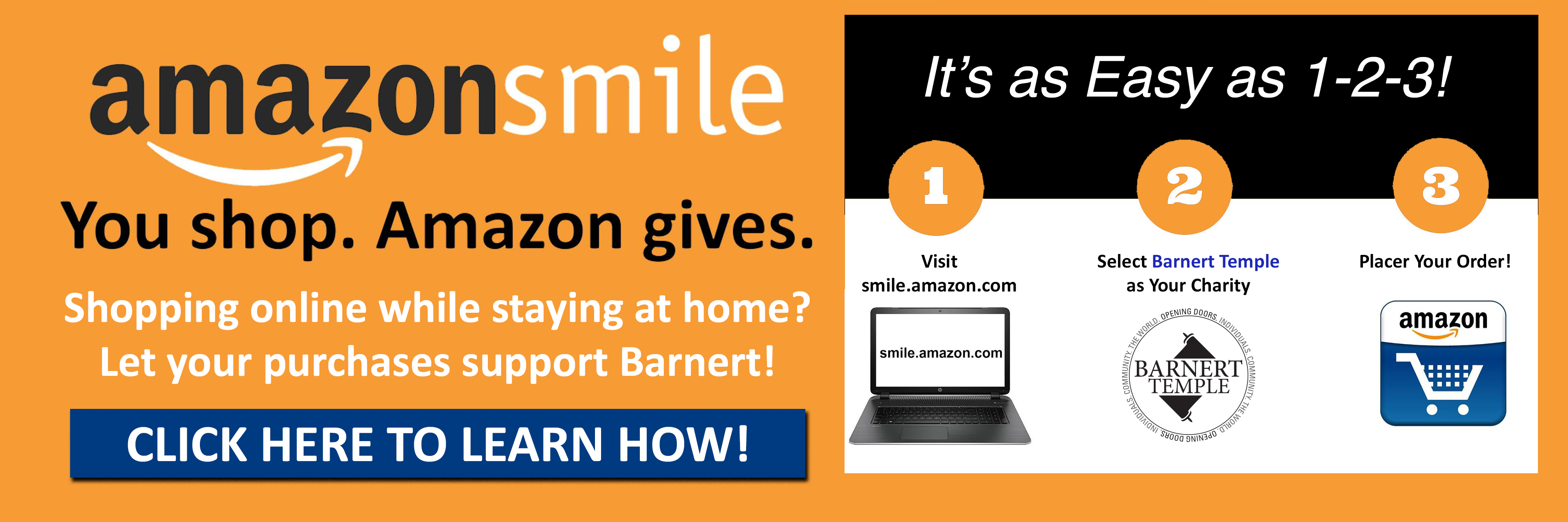 "<a href=""https://www.barnerttemple.org/amazonsmile""