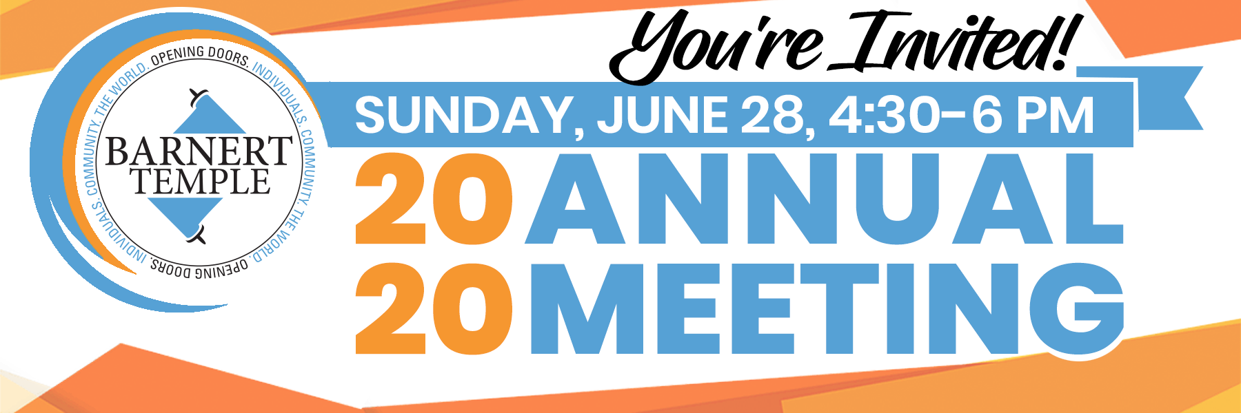 2020 Annual Meeting Ad