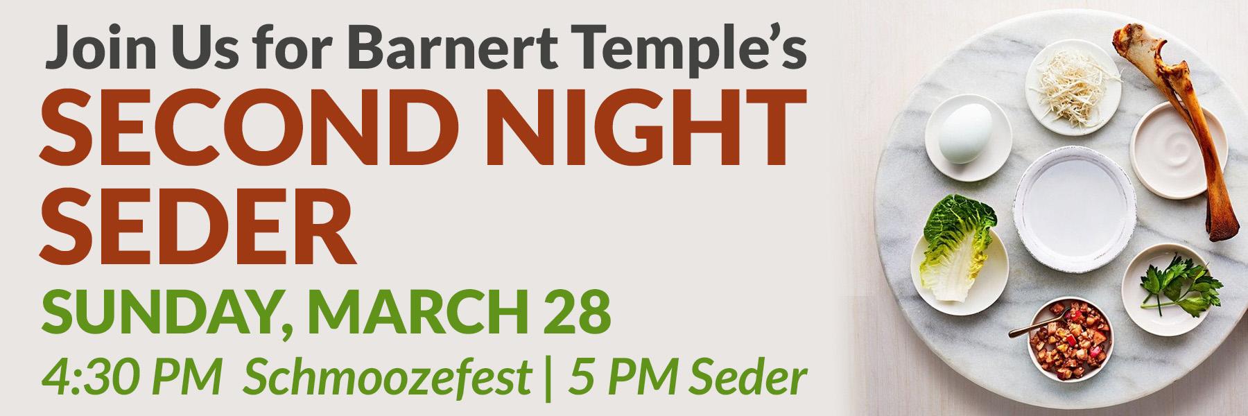 Second Night Seder Banner