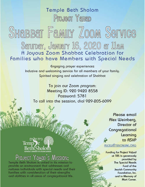 Banner Image for Zoom: Project Yahad Shabbat Family Service