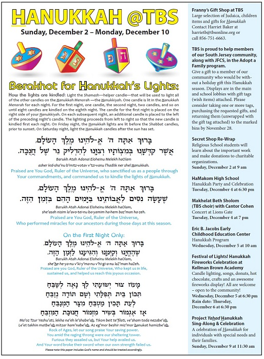 photograph about Hanukkah Prayer Printable identify Delighted Hanukkah! - Temple Beth Sholom