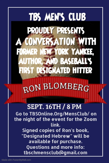 Banner Image for Zoom: Men's Club w/former Yankee Ron Blomberg