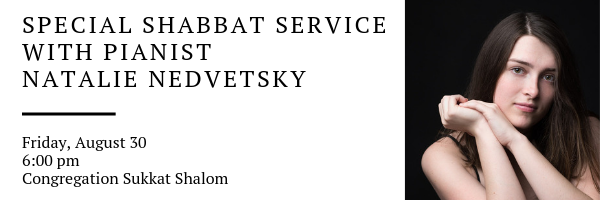 Banner Image for Special Shabbat Service with our own Natalie Nedvetsky