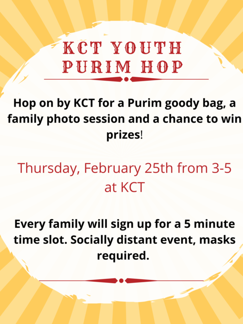 Banner Image for KCT Youth Purim Hop