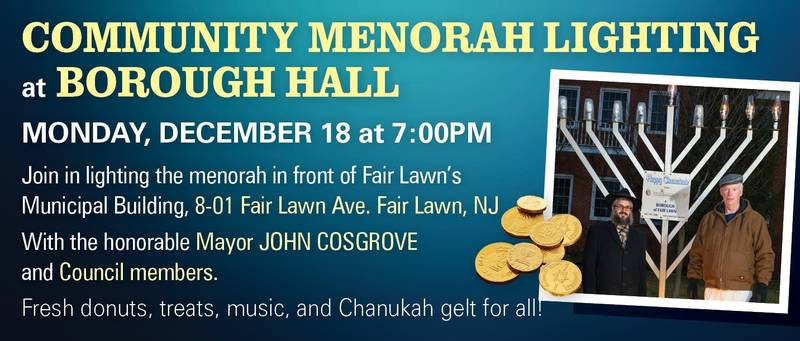 Menorah Lighting at Borough Hall 2017