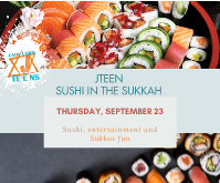 Jteen Sushi in the Sukkah