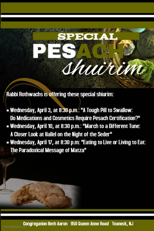 Banner Image for Special Pesach Shiurim